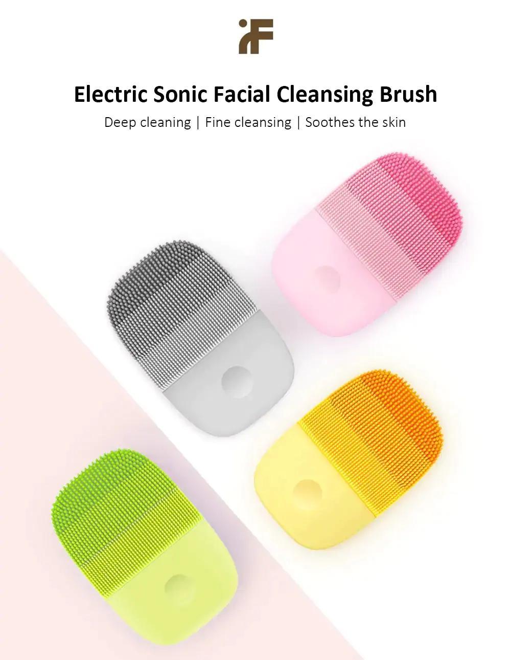 Orijinal inFace Yüz Temizleme Fırçası Derin Temizleyici Yüz Su geçirmez Silikon Elektrik Sonic Temizleyici Temiz apparaat C1