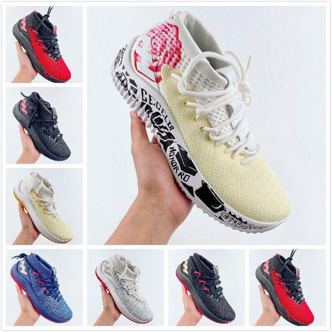 Онлайн Фабрика 2020 Dame 4 мужская баскетбольная обувь для Lillard GCA 4S кроссовки desigener тренировочная обувь баскетбол dame 40-46
