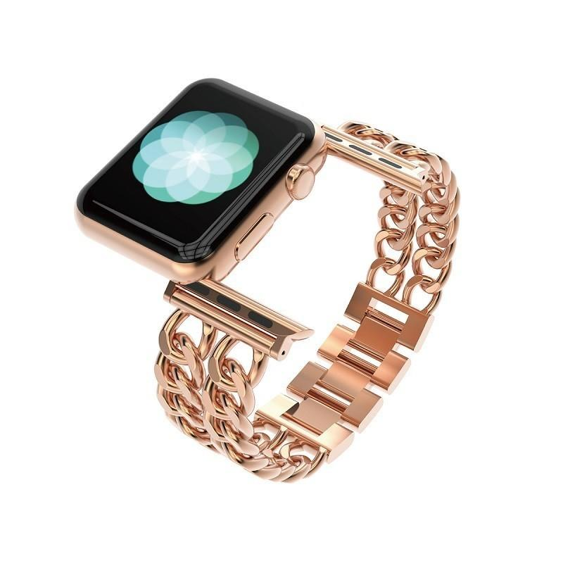 ارتفع الذهب الفولاذ المقاوم للصدأ سوار حزام الأزياء لابل 42 ملليمتر الفاخرة iwatch العصابات الأساور ل iwatch سلسلة 38 ملليمتر T190620