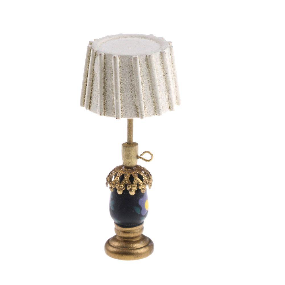 1PCS 01:12 Miniature Table Lamp 5.2 * 2.2 * 1,3 centimetri Doll House Accessori Dollhouse Dolls House Mobile Lamp Decor