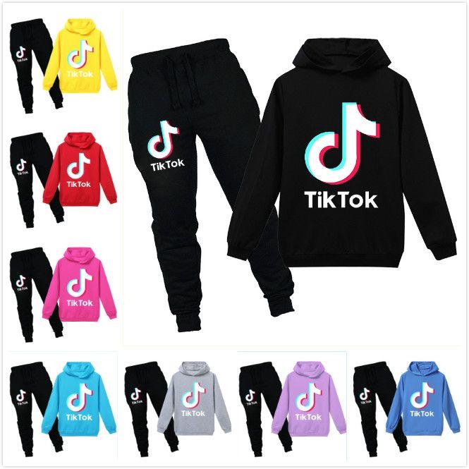 Kids Tracksuit Set Hoodie Sweatshirt Pants Boy Girl Outfits