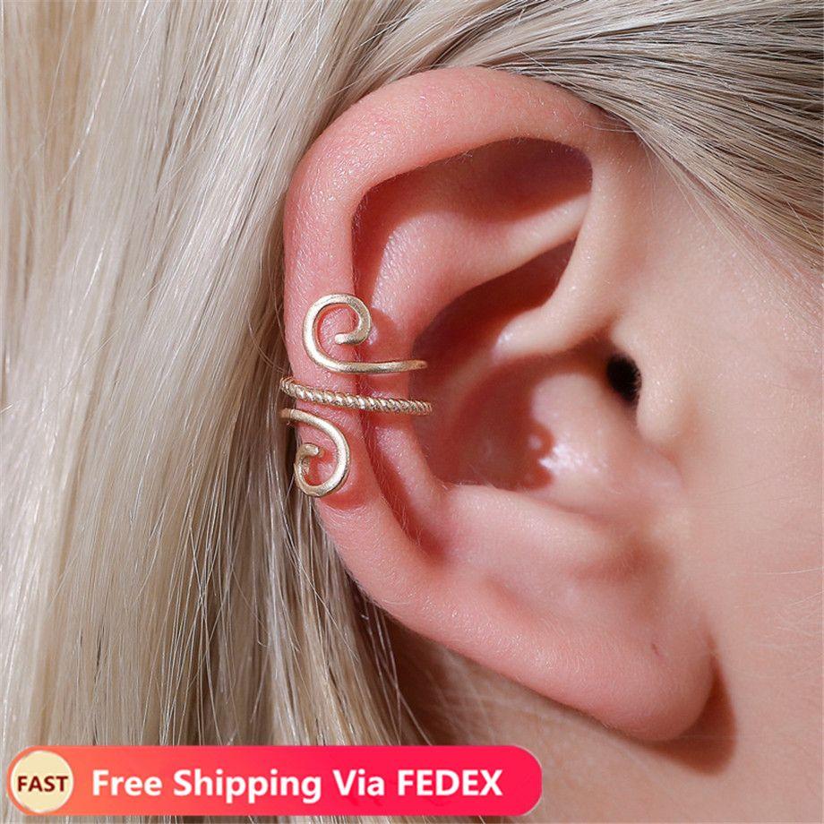 Vintage Clip On Earrings Crystal Ear Cuff Non Pierced Earrings Nose Ring New Fashion Women Earrings Punk Rock Earcuff Body Art Hull Body Art Photo From Zhengyouchen 0 44 Dhgate Com