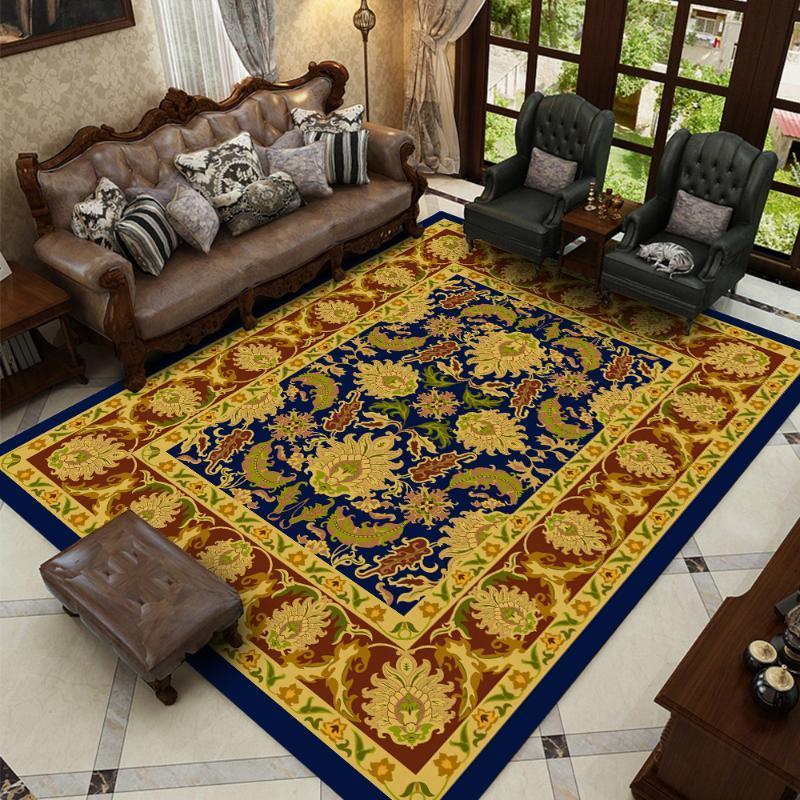 Estilo persa Silstar Tex grande manta de área de resumen de flores Alfombras de Arte en la sala de estar dormitorio antideslizante estera del piso de la cocina Tapete