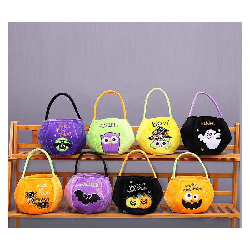 Decoração Doces Bolsa Crianças Bolsa de Abóbora Rodada Estéreo Halloween presentes Saco 7 Criativo DHL Estilos Party XD22221 CWJXR