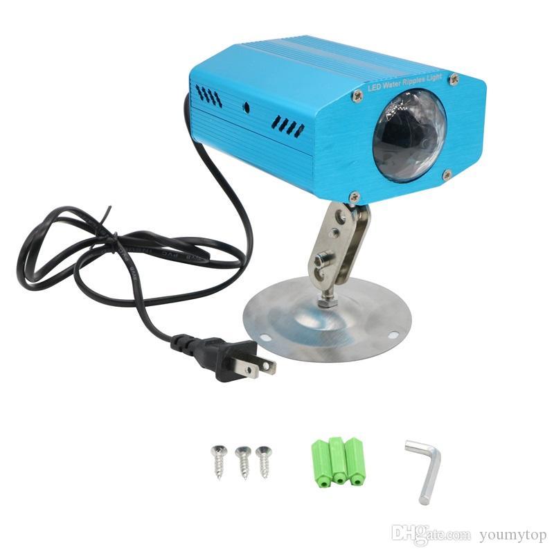 Yeni Varış Mini Su Dalga Lazer Işık Mavi Oto Hareketli Sahne Lazer Işık Projektör Destek DJ Parti Disko Işık