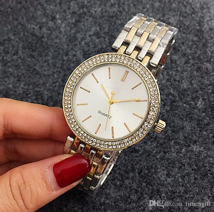 2019 novo estilo de moda mulheres watch presente de aço de ouro branco japão relógio de quartzo senhoras do sexo feminino m mulheres relógio de pulso relógios relojes mujer