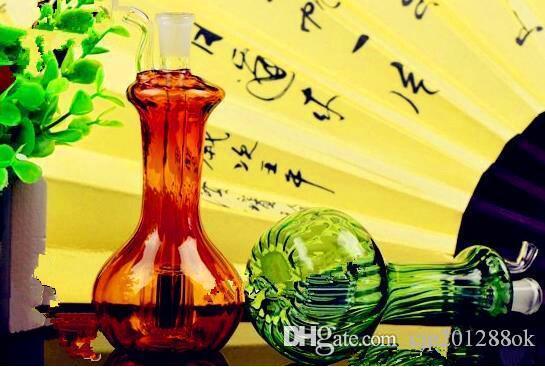 Full color vase multiple hookah Wholesale Glass bongs Oil Burner Glass Water Pipes Oil Rigs Smoking Free