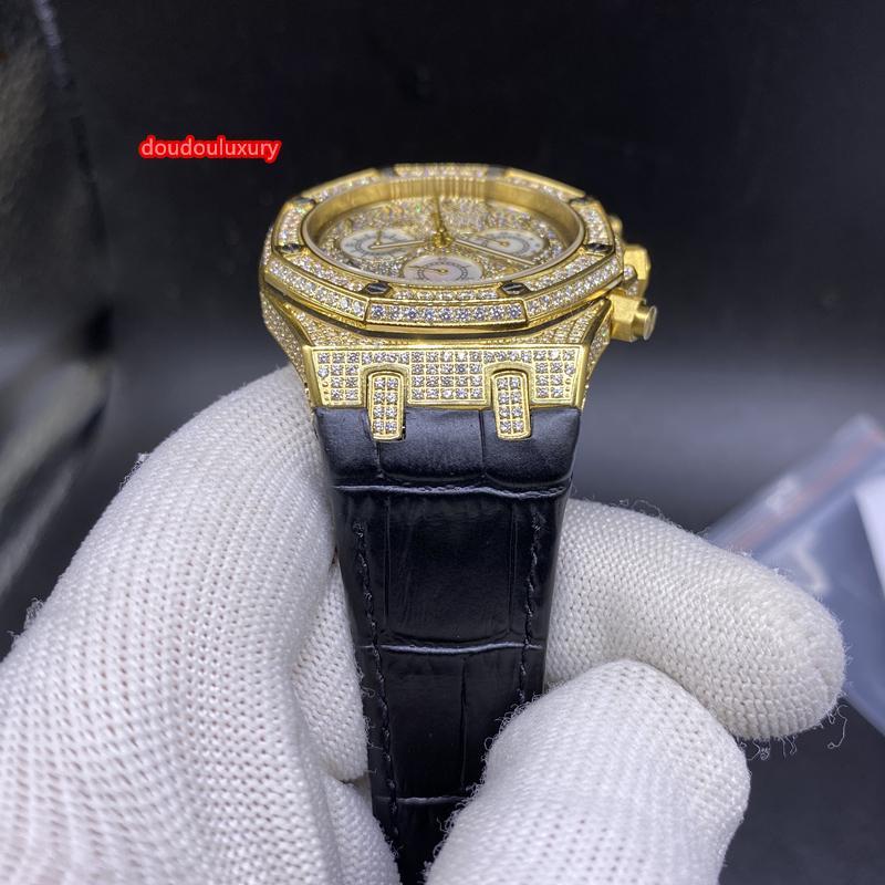 Or montre de mode diamant chiffres arabes échelle vente boutique chaud bracelet ceinture noire montre montre d'affaires mouvement à quartz