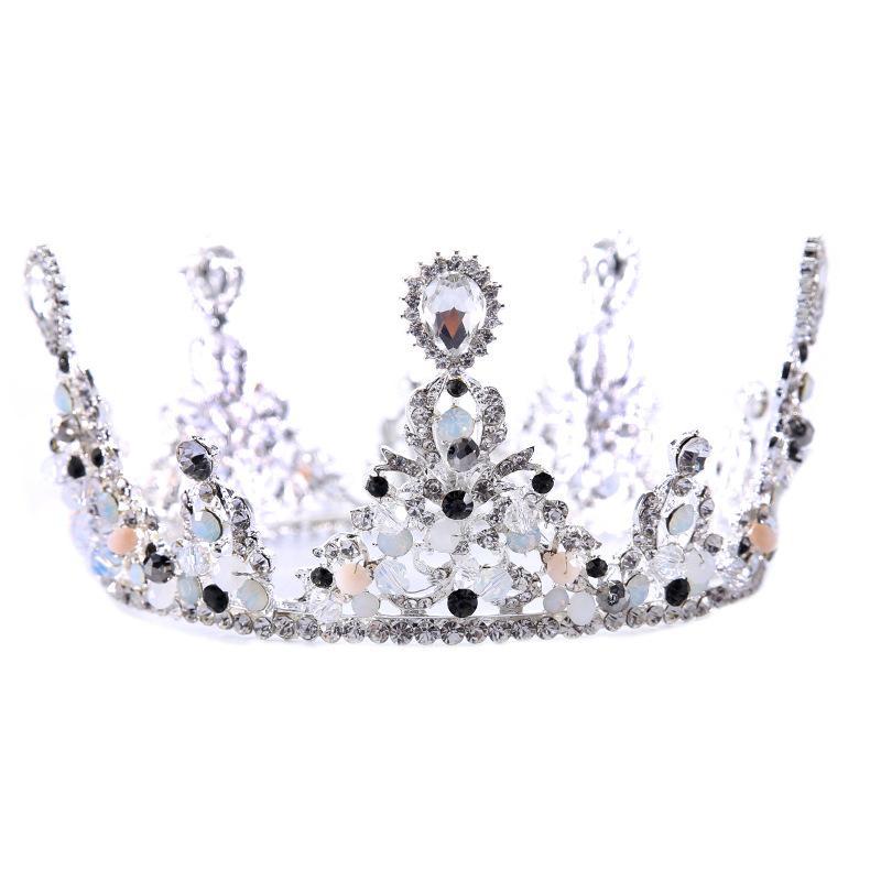 Women Baroque Retro Style Tiara and Crown Bridal Wedding Luxury Hair Jewelry Ladies Delicate Elegant Party Hair Accessories