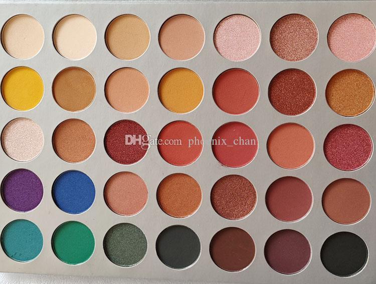 35 cores da paleta da sombra de olho Shimmer Matte Paleta da sombra de olho Em estoque DHL transporte livre