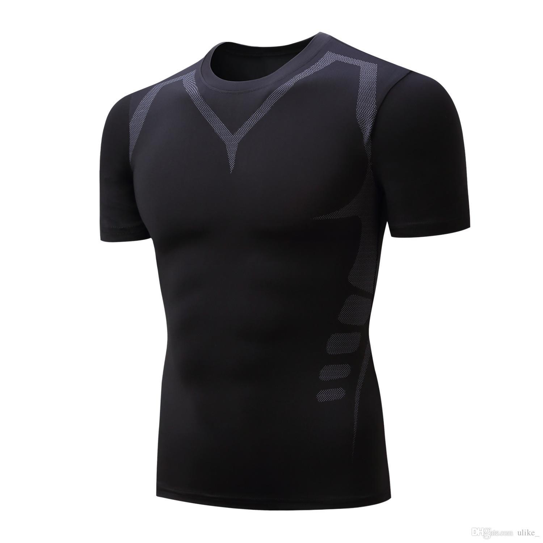 Maglietta da uomo Quick Dry Running Maglietta 2019 New Compression Shirt da uomo manica corta Sport Jogging Fitness T Shirt Training Suit Novità