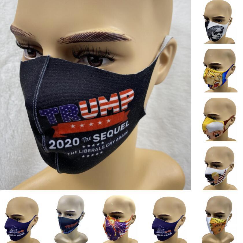Trump Masques visage anti-poussière Masques visage adulte Réutilisable Trump Masques élection américaine Trump Lavable bouche 9 moufles Styles CCA12286 100pcs