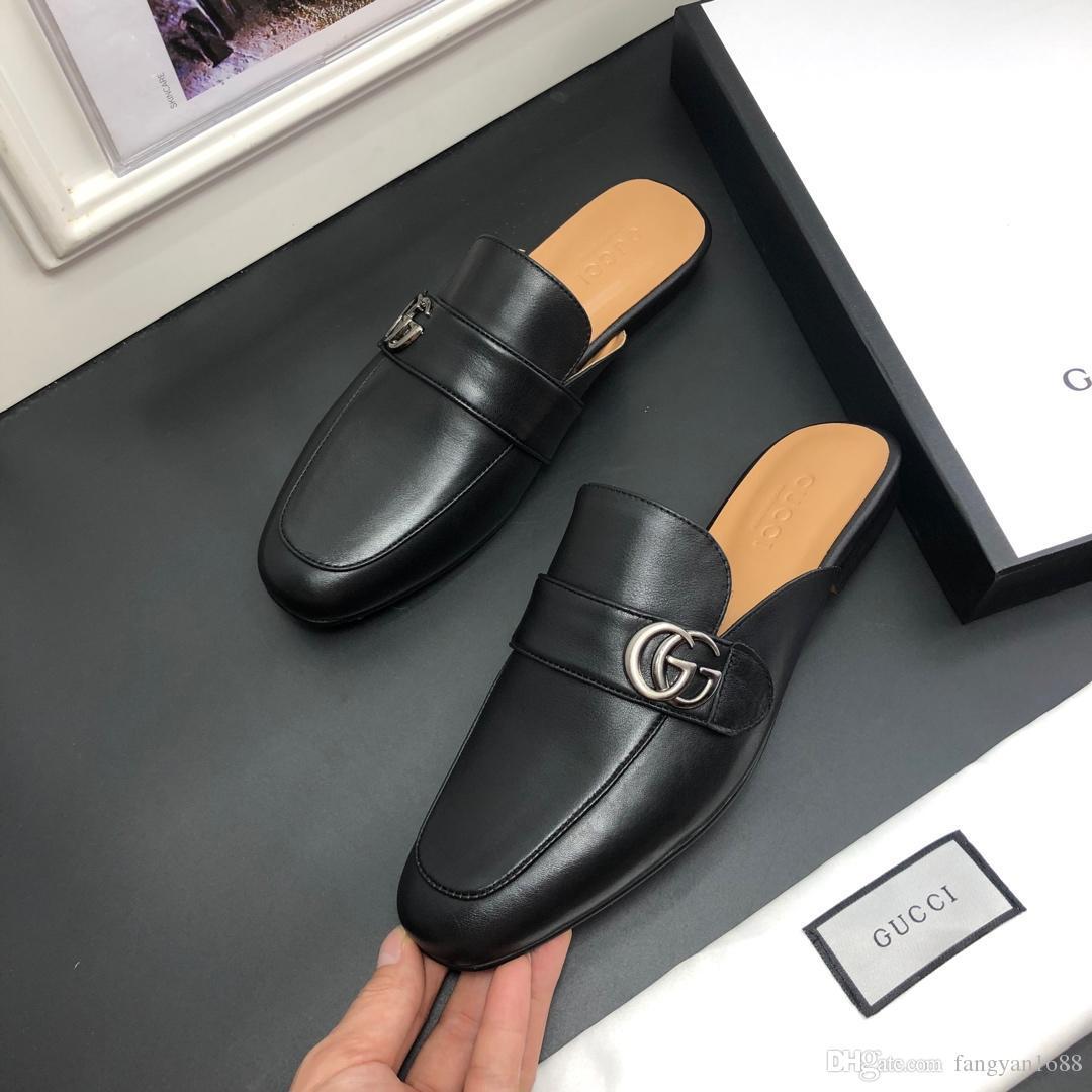Yüksek Kaliteli Lüks Tasarımcı Erkekler Yaz Kauçuk Sandalet Marka Plaj Slayt Moda Scuffs Terlik Kapalı Ayakkabı Boyutu EUR 38-45