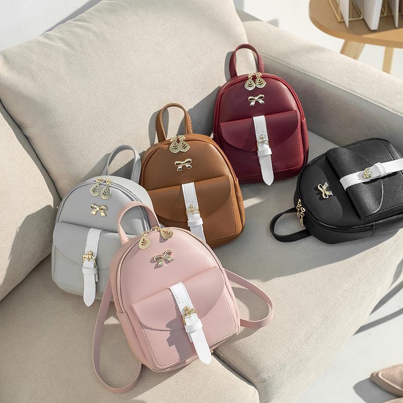 estilo de Corea del arco de mini mochila 2020 multifuncional pequeño bolso mochila mujeres pequeños