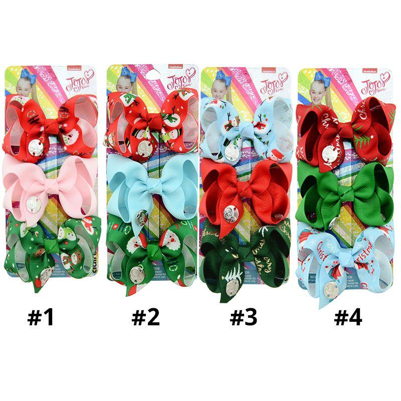 """CHRISTMAS Girls Handmade pink blue mix snowman glitter 4/"""" bow hair clip gift"""