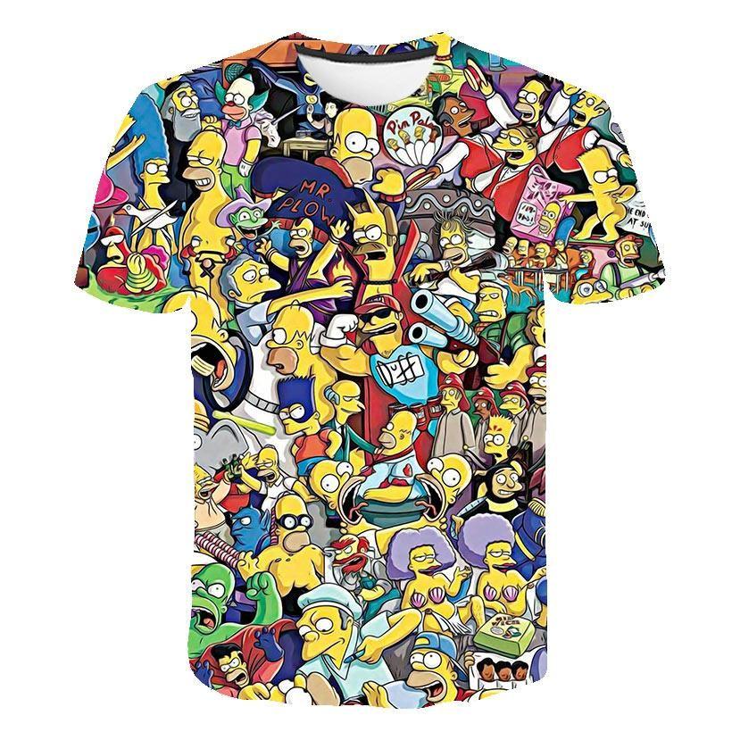 The Simpsons Homer 3d Print T Shirt Bart Simpson House Clothing Homer Simpsons Sweatshirt Costume Men/women Simpson Family Shirt
