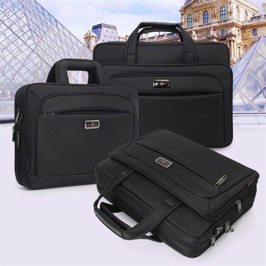 "2019 New Business Men Briefcase High Capacity Men's Single Shoulder Bags 14"" 15"" 16"" Laptop Bag Women Work Files Office Package #88298"