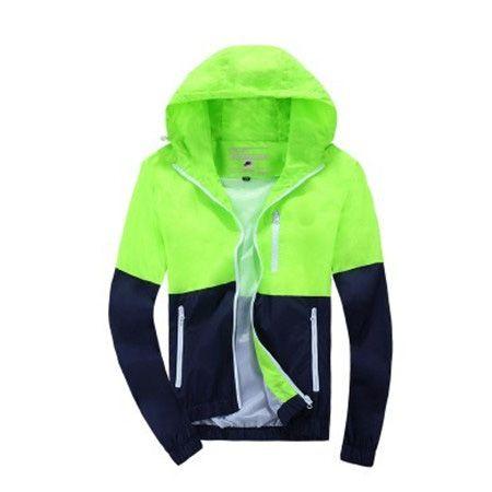 2020 Autunno Autunno Inverno Uomo Donna sportiva Jakcets Sport Sport Giacca alta Patchwork Tops giacche a vento casual Windbreaker S-3XL B100137Q