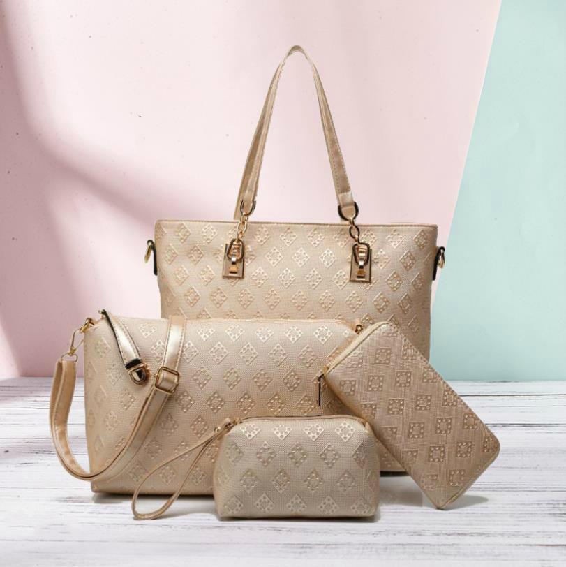 Del progettista di marca Donne Messenger Bag borsa a tracolla Borsa Crossbody Borse # m4aq borse increspa Totes 4 colori Lattice 3pcs Set