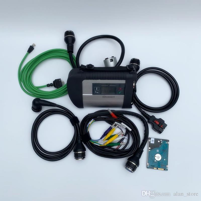 Top SD Connect Auto scanner de diagnóstico MB Star C4 SD compacto diagnosticar MB Star C4 com software de 2019 mais recente versão 320gb HD
