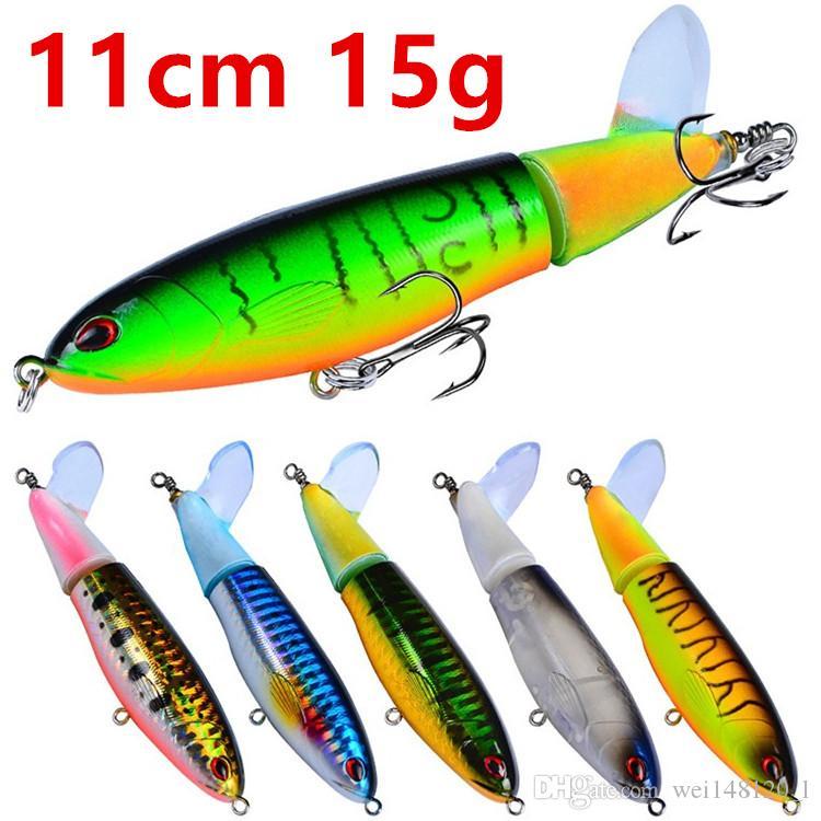 1pcs 8 Colore 11 centimetri 15g matita Pesca Ganci ami 6 # gancio duro adesca i richiami di pesca Tackle F-004