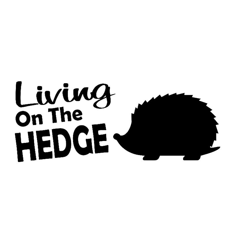 15 * 5,9 centimetri Living On The hedgehog decalcomania del Be Different Accessori auto del casco del motociclo Car Styling