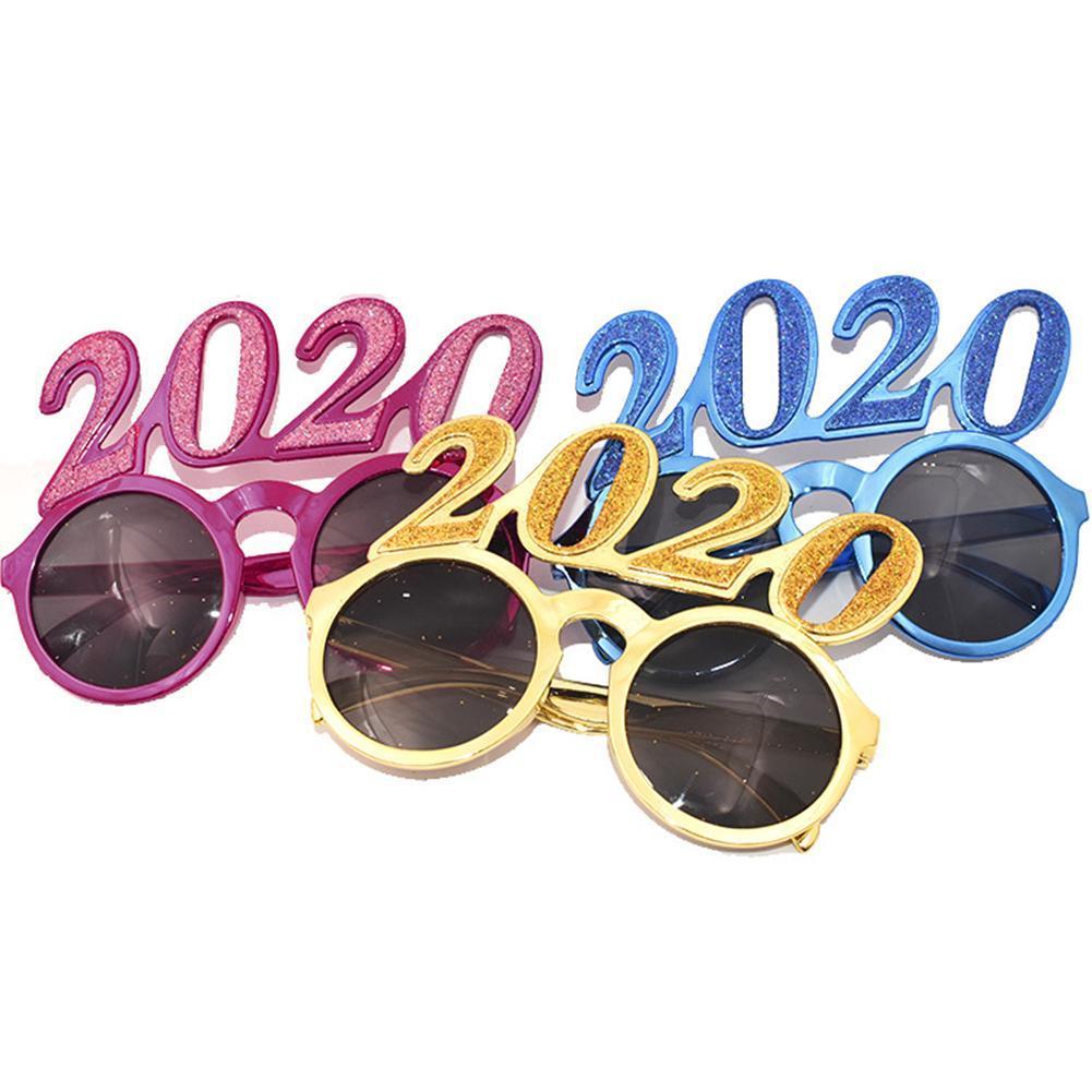 Masquerade Çerçeveler Komik Gözlük 2020 Yılbaşı Festivali Gözlük Dekorasyon İçin Yeni Yıl Partisi Cosplay Erkekler Kızlar Balo aksesuarları