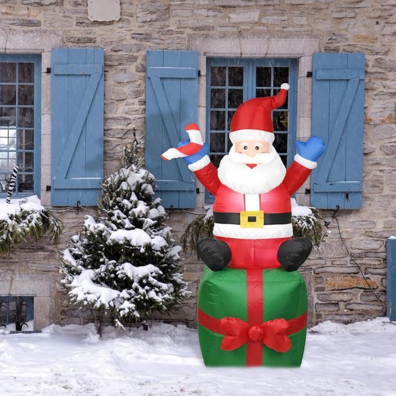 1,8 m de Santa Claus juguete inflable Decoración al aire libre de Navidad Arco de la yarda del ornamento