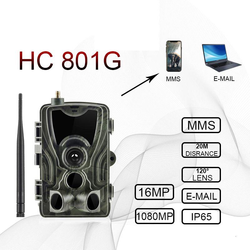 hc801a HC801M HC-801G 4G ciervos caza de la cámara 16MP cámara Trail versión de la noche MMS Trampas Foto cazador GSM cámara salvaje Chasse T191016