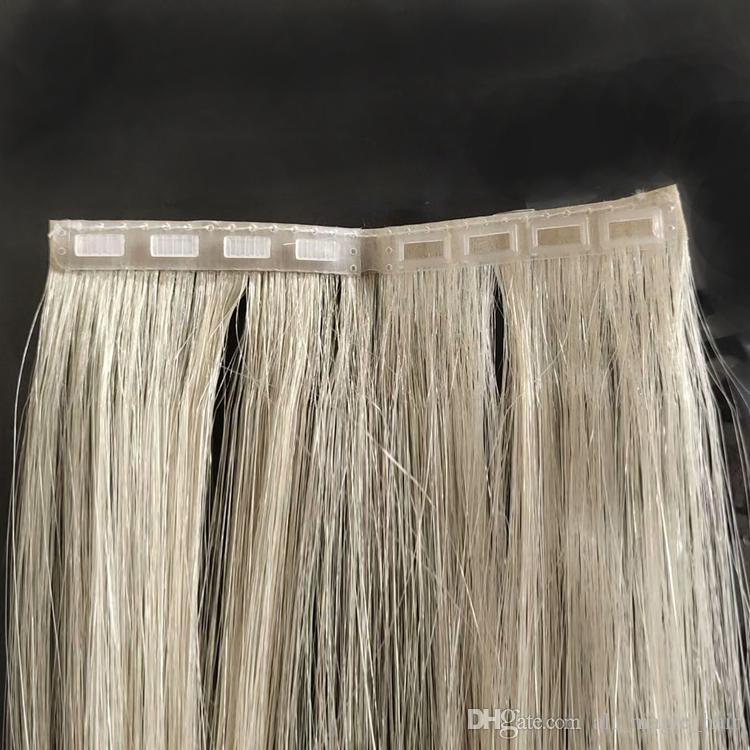 """2019 New Product Invisible Skin Skin Preten fita na extensão de cabelo Fácil de usar Nenhuma fita dupla face dupla clipe de duas """"-24"""""""