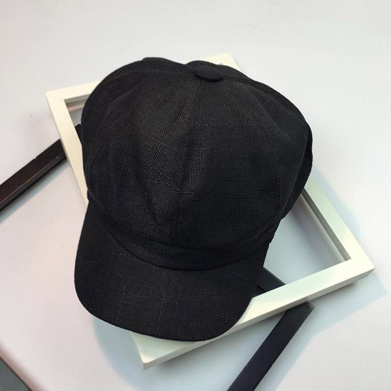 New Newsboy Caps outono verão viseira luz corpo pintor cap maré octagon chapéu das mulheres dos homens literária de linho chapéus
