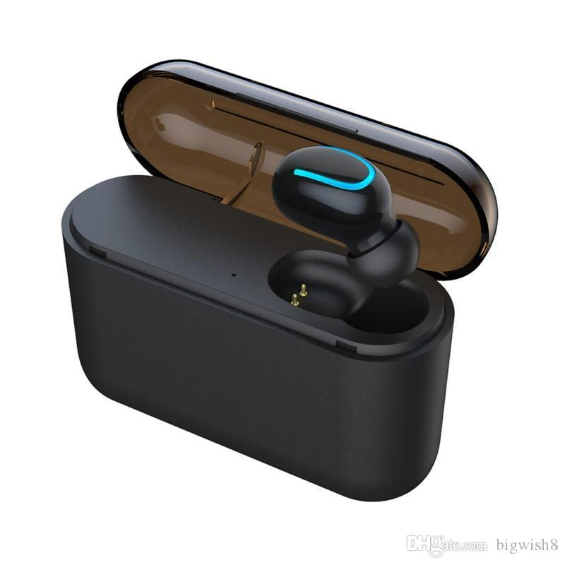Q32 Bluetooth 5.0 Headphone Cell Phone Earphone With Power Bank Mini Wireless Headset Stereo Sports Cordless EDR Handsfree Gaming Mic Earbud