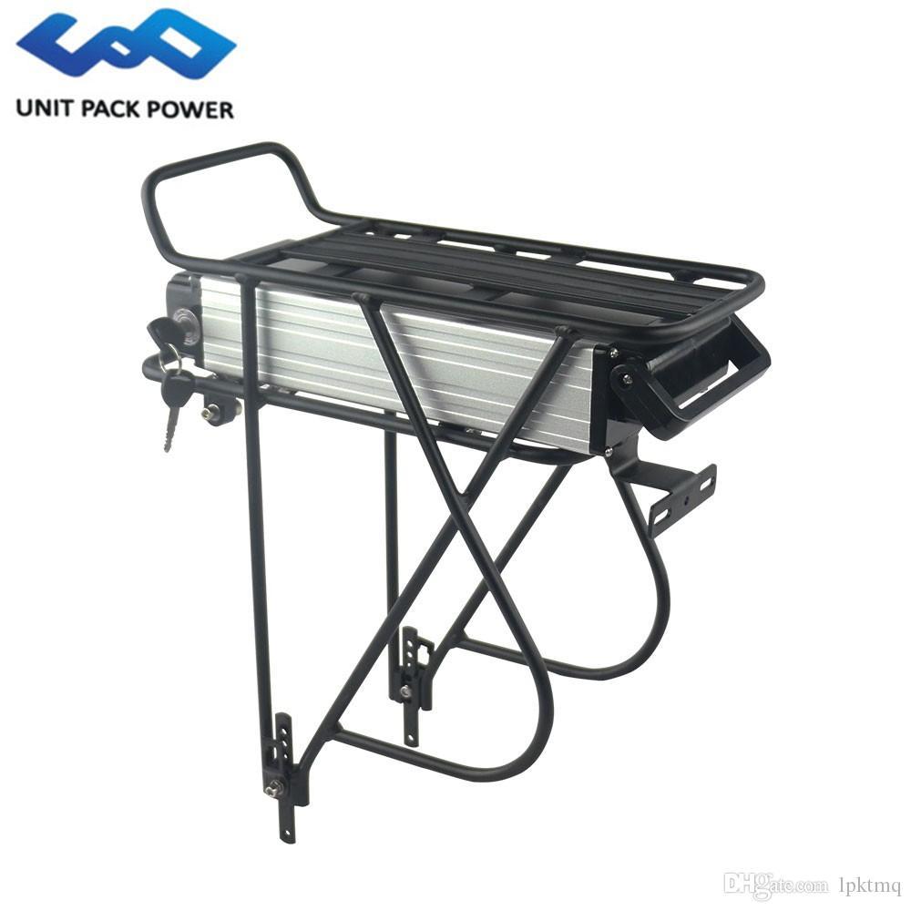 750W 500w elektrikli bisiklet için UPP arka raf lityum pil 48v 10Ah e-kiralama Li iyon batarya 48v