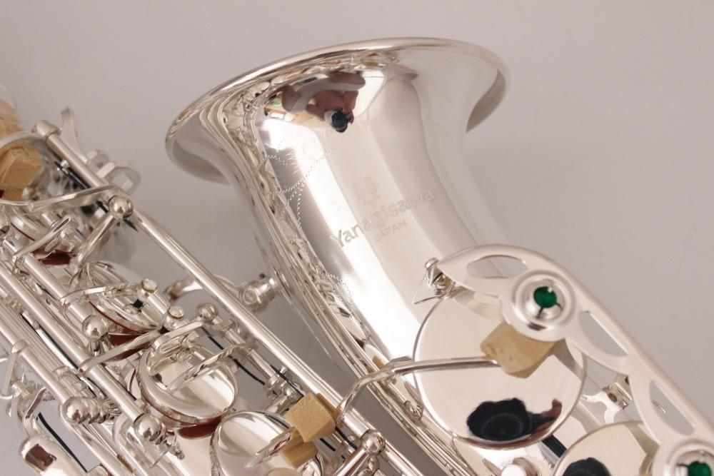 عالية الجودة ساكسفون ألتو ياناجيساوا A-WO37 الفضة ساكس ألتو الفضيل المهنية الموسيقية مع حالة شحن مجاني