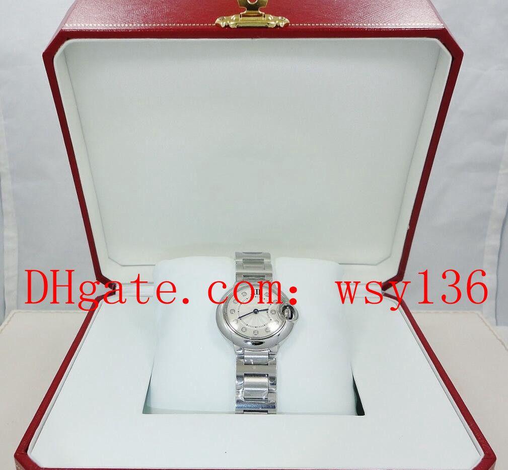 Высочайшее качество Женские кварцевые часы WE902073 28 мм Diamond Diale Женские моды запястья Waitces включая коробку