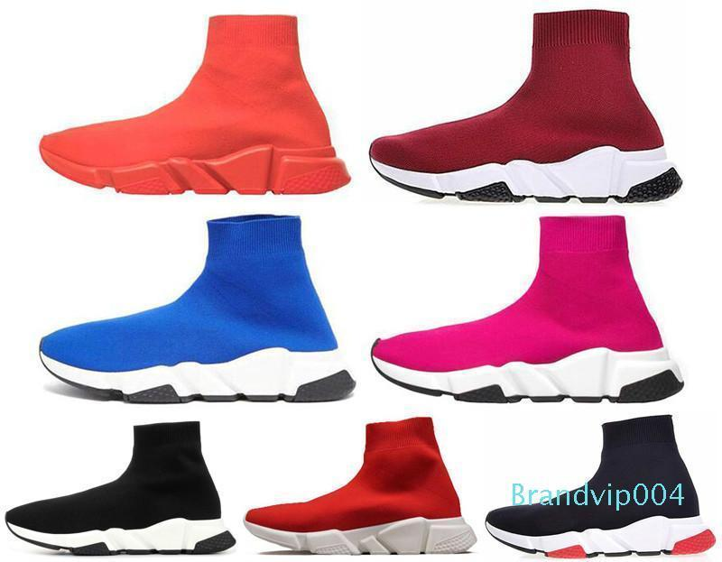 erkekler için Yeni Moda Ayakkabı Hız Eğitmen ucuz Sneakers siyah erkekler Shoe zapatos ücretsiz gönderim t1 Hız Eğitmen Çorap yarışı Runners womens