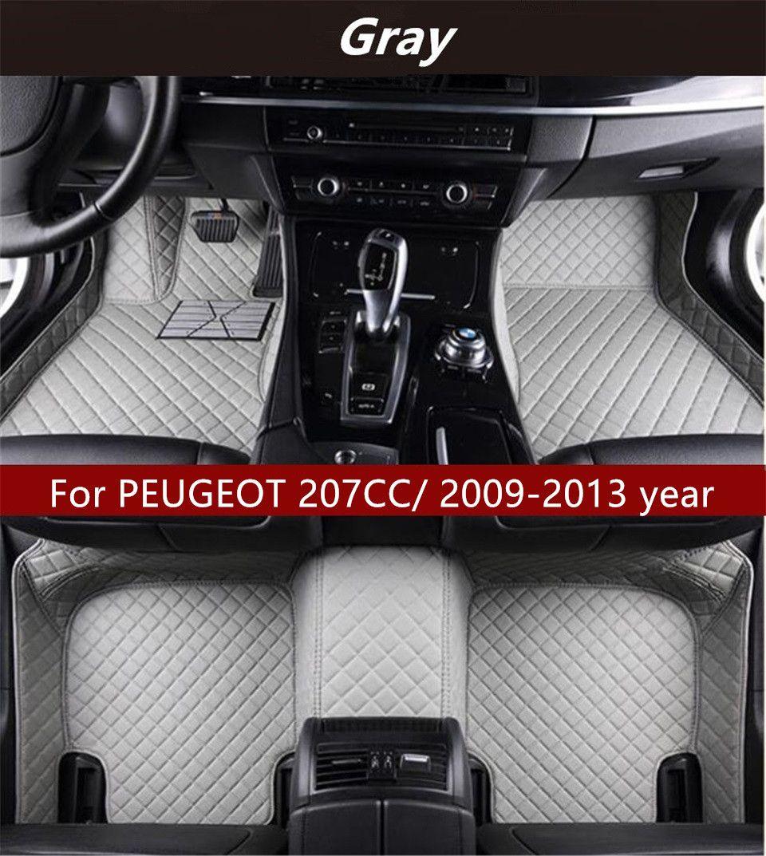 Para PEUGEOT 207CC / año 2009-2013 Interior del coche Foot alfombra antideslizante Protección Ambiental insípido no tóxico alfombra del piso