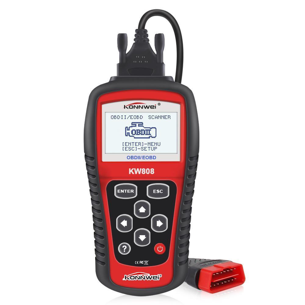 Winsun KW808 OBD Auto-Scanner OBD2 Auto Autodiagnosescanner-Werkzeug unterstützt CAN J1850 Motor Fualt Codeleser