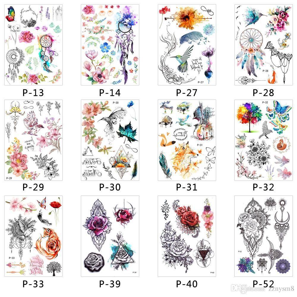 3d Sticker Waterproof Disposable Body Temporary Tattoo Fake Women Men Diy Henna Body Art Tattoo Design Butterfly Tree Custom Temp Tattoos Custom Temporary Tatoos From Zznysm2 0 31 Dhgate Com