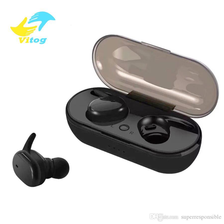 TWS S4 Bluetooth headset Earphones Handsfree Wireless Earbuds in ear headphones stereo bluetooth 5.0 touch control for smartphones