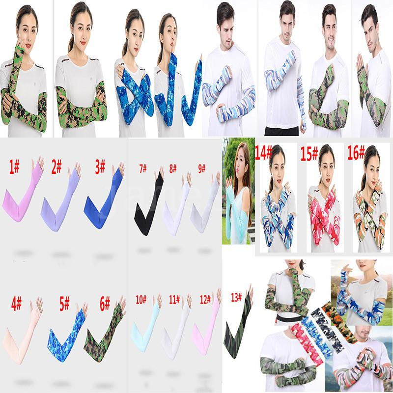Fashion Camo Cooling Sun UV Protection Cover Golf Cycling Bike Sports Arm Sleeves DHA177