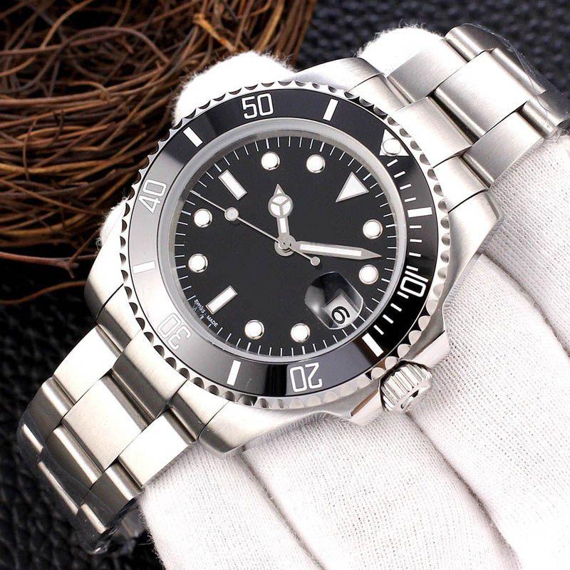 2020 Новая мода Мужские часы Лучшие качества автоматические механические движения Наручные часы из нержавеющей стали 316L Кристал керамический 16233 Reloj Orologio