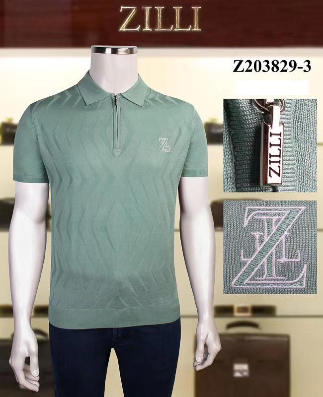 Мужская футболка, Новый шелковый модный бизнес дышащий, удобный и тонкий.