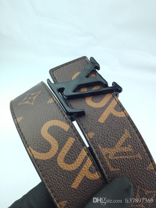 cinture cinture di design di lusso per gli uomini grande fibbia della cintura superiore del Mens cinghie di cuoio Larghezza 3,5 centimetri con la scatola di trasporto libero all'ingrosso