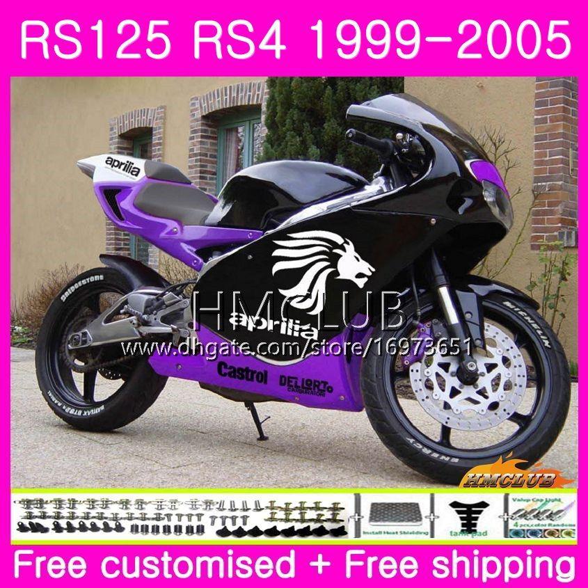 RS125R ل Aprilia RS 125 1999 2000 2001 2002 2003 2005 40HM.11 RSV125R RS4 RS-125 RSV125 R RS125 99 00 01 02 03 04 05 Purple black Fairing