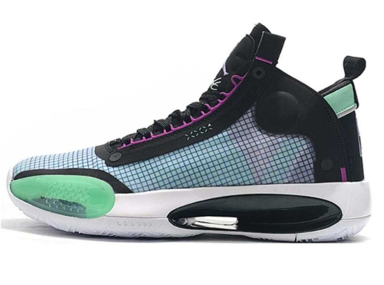 34 Eclipse мужчины Снежный Барс баскетбольная обувь 34s Янтарный подъем XXXIV синий пустота зеленый блестящий черный металл серебро дизайнер спорта на открытом воздухе zefengst