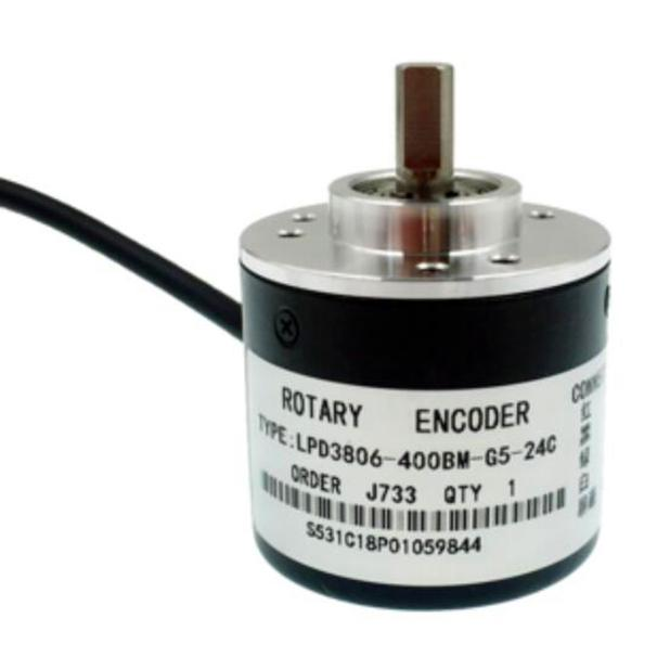 LPD3806-400BM-G5-24C 400 pulse / 6mm axis / AB phase incremental photoelectric rotary encoder