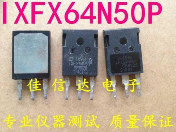 Ursprünglich verwendeter Feldeffekttransistor IXFX64N50P MOSFET TO-247 TO-3P Test OK