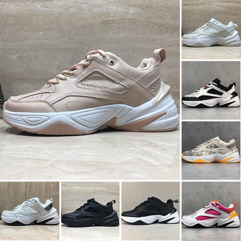 Hot Particle Beige Women M2k Tekno Running Shoes Triple Black White PARIS Pure Platinum Camo Pink Foam Men Dad Sneakers Trainers Size 36-45