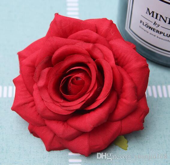 Di alta qualità decorazione della parete imitazione fiore di rosa falso fiore testa con 9 centimetri di diametro angolo di curling WL369